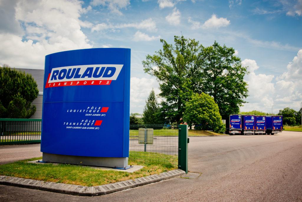 Entrepôt logistique à St Junien (87, Limousin). Stockage de marchandise et transport routier.